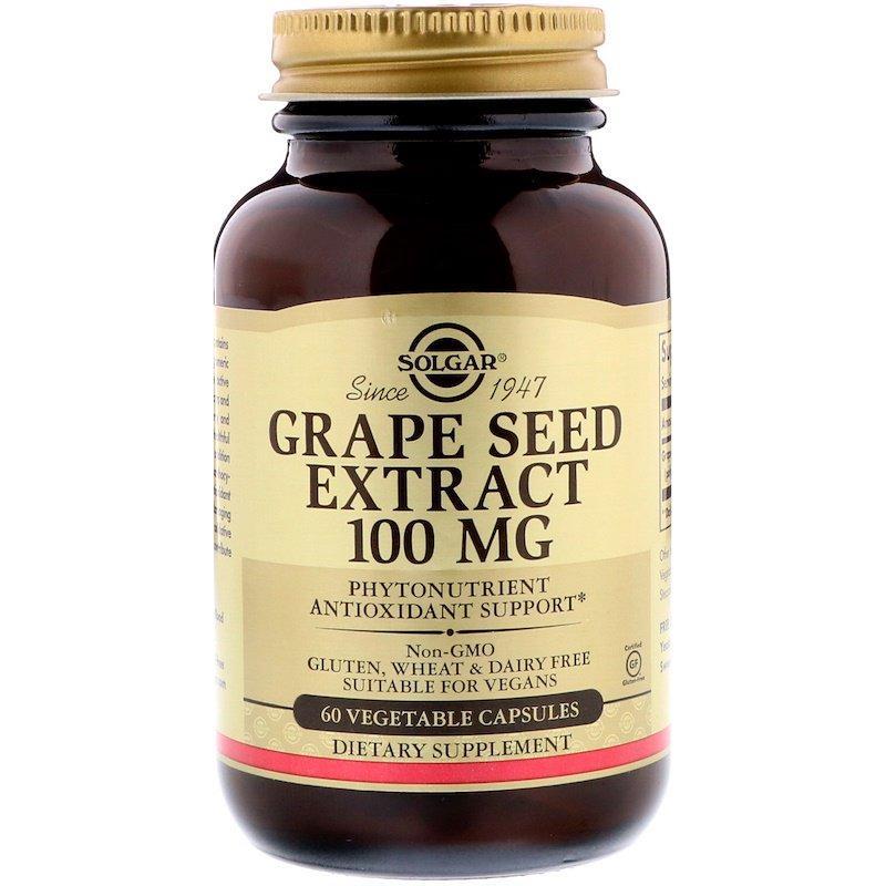 "Экстракт виноградных косточек SOLGAR ""Grape Seed Extract"" 100 мг (60 капсул)"