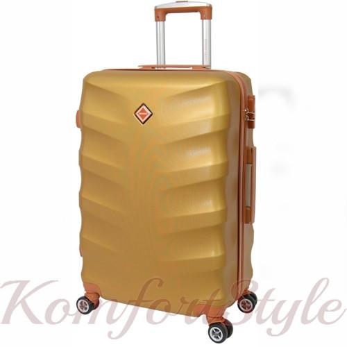 Дорожный чемодан на колесах Bonro Next средний золотой (10642402)