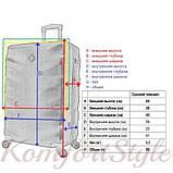 Дорожный чемодан на колесах Bonro Next средний золотой (10642402), фото 4