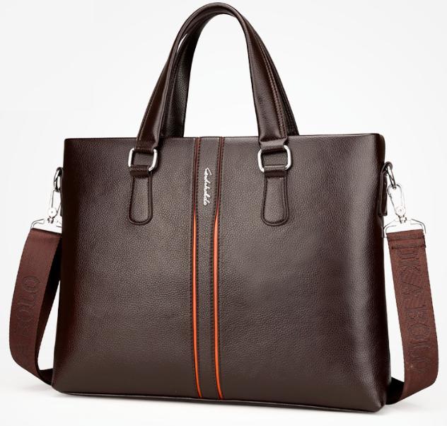 Мужская сумка для документов ноутбука Fedika Bolo кожаная