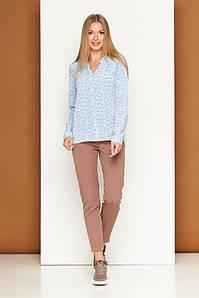 Зауженные женские классические брюки цвет капучино