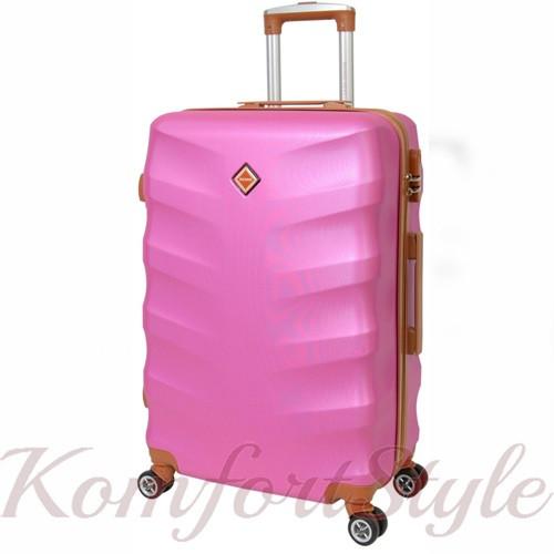 Дорожный чемодан на колесах Bonro Next средний розовый (10642406)