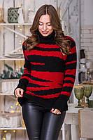 Свитер женский модные свитера 2019 Красный, фото 1