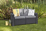 Набір садових меблів California 2-Seater Sofa з штучного ротанга ( Allibert by Keter ), фото 3