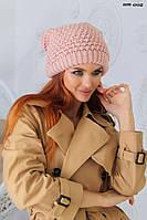 Теплая шапка с балабоном (розовая, черная, белая, горчичная)