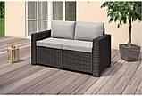 Набір садових меблів California 2-Seater Sofa з штучного ротанга ( Allibert by Keter ), фото 5