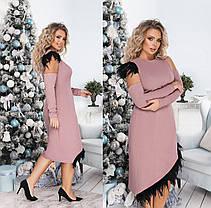 Платье со съемными рукавами  БАТАЛ  в расцветках 706041, фото 2