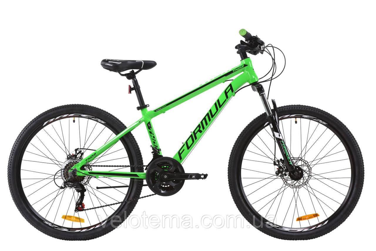 "Велосипед AL 26"" Formula THOR 1.0 AM DD рама-14"" зеленый 2020"