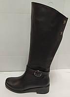Сапоги высокие из натуральной кожи на низком каблуке от производителя модель РБ073ОК, фото 1
