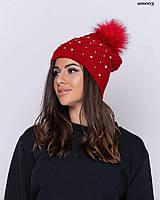 Теплая шапка с балабоном (7 цветов)