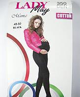 Теплые колготки для беременных р.2 ТМ Lady May 350 den черные