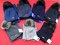 Детский зимний набор шапка хомут вязка, фото 1