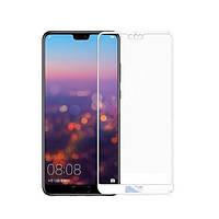 Захисне скло Huawei P20 Lite (full glue) прозоре (біле) Mocolo