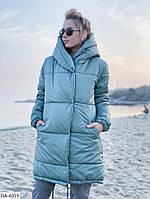 """Зимняя куртка женская зефирка с двойным капюшоном """"Морозец"""""""
