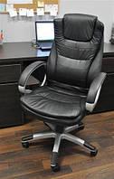 Офісне крісло з еко-шкіри ЧОРНЕ Компютерне крісло Офисное кресло Компьютерное кресло Malatec 2731