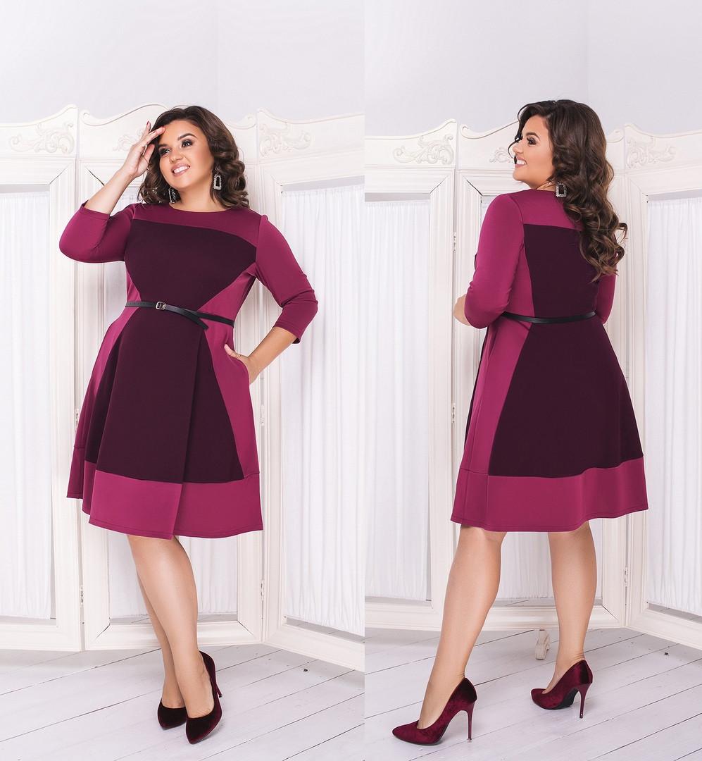 Приталенное женское платье с карманами  48-50, 52-54, 56-58