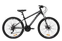 """Велосипед AL 26"""" Formula THOR 1.0 AM DD рама-18"""" черно-серый с белым (м) 2020"""