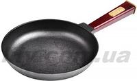 """2035-2 Сковорода чугунна 200х35 мм з ручкою  """"Optima-Bordo"""""""