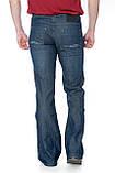 Джинсы мужские Franco Benussi FB 3353-999 клёш синие, фото 6