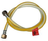 Шланг для газа 1/2 1,5 м ВВ sd ПВХ армированный белый с желтой полоской zx