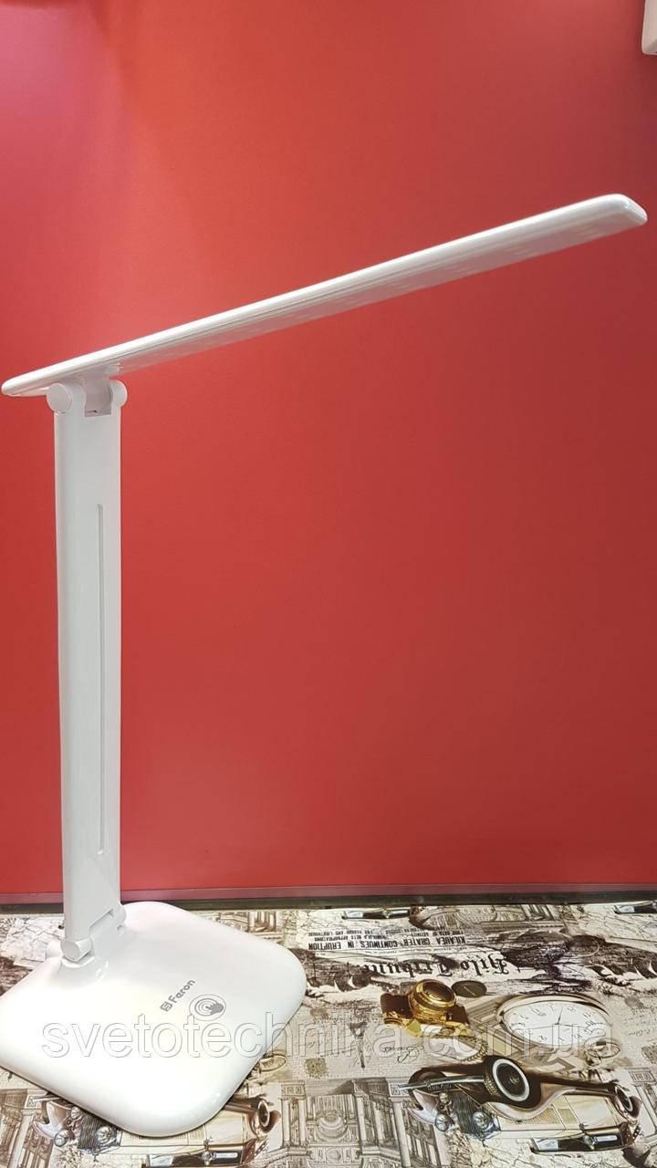 Настольная светодиодная лампа Feron DE1725 9W 6400К