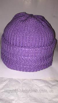 Жіноча шапка осінь-зима,з відворотом.(бабуся)
