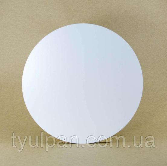 Подложка  усиленная круг белая двп Д 32 см h 3 мм