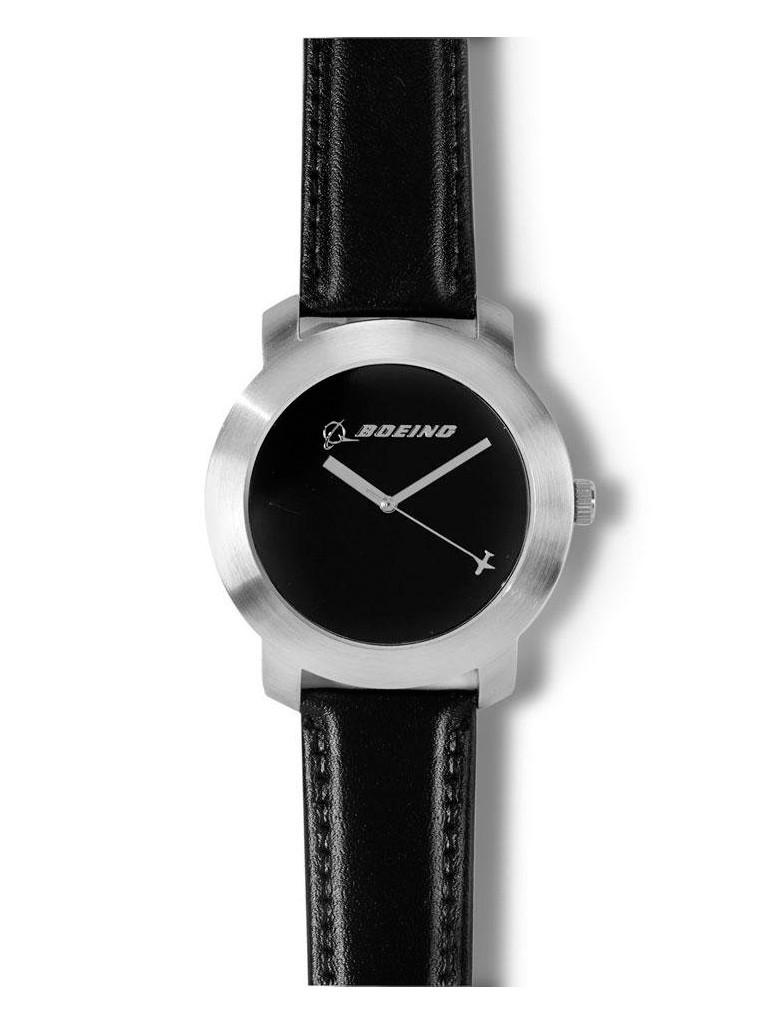Чоловічі годинники Boeing Silver Rotating Airplane Watch