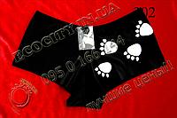 T_302 Gemini FREE черные лапки трусики бедровки шортики Черный