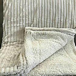 """Однотонний флісовий плед """"Овчина""""розмір 160х220"""
