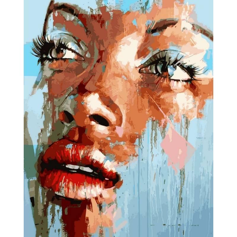 Раскрашивание по номерам Яркий портрет VP1176 Babylon Turbo 40 х 50 см