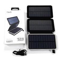 Портативное зарядное устройство HAVIT HV-H522I с солнечной батареей, Power bank на 10000 мАч, повербанк