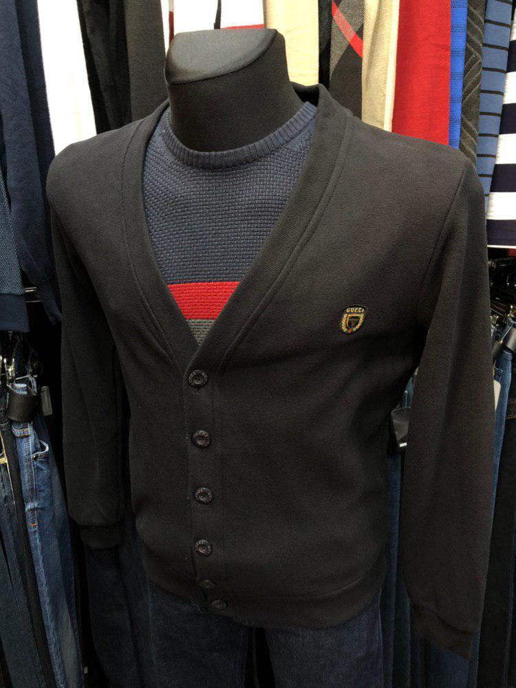 Кофта мужская Gucci D8569 черная