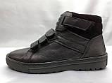Кожаные зимние ботинки под кеды на молнии и липучках Rondo, фото 4