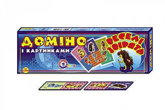"""Доміно """"Веселі звірята ТехноК""""(картонне), 2544 в кор. 40×13.5×3.5 см"""