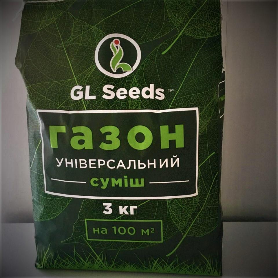 Газон Универсальный GL Seeds, мешок 3 кг (на 1 сотку) - Семена для газона