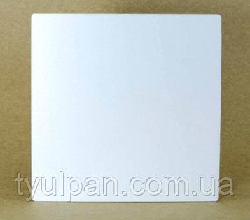 Подложка  усиленная квадрат белая Д двп 35*35 см h 3 мм