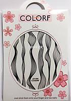 Наклейки для дизайна ногтей, черный