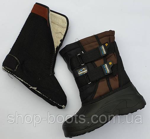 Подростковые сапоги аляска со теплой вставкой. 36-41рр. Модель аляска подросток 6, фото 2