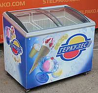 """Морозильный ларь """"Caravell"""" (Дания), полезный объём 305 л., гнутое стекло, Б/у"""