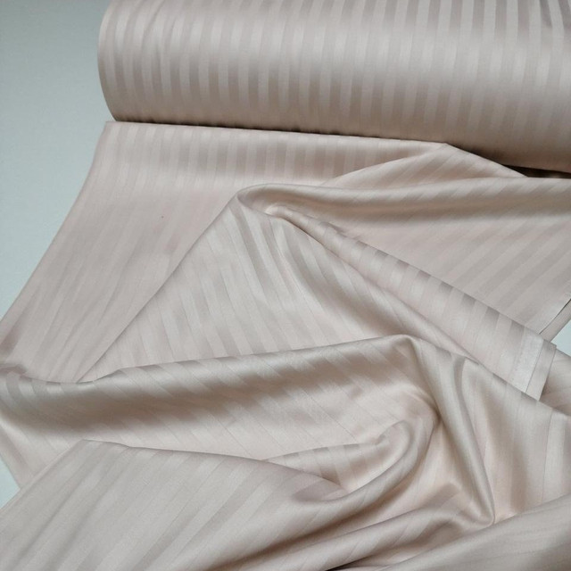 ткань страйп - сатин пудра 240 турция,100% хлопок