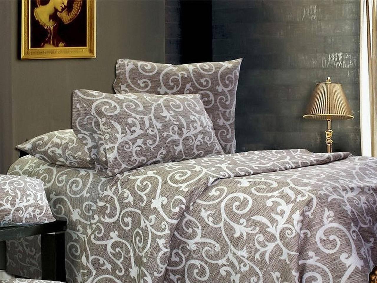 Полуторное постельное бязь 100% хлопок Вензель штрих
