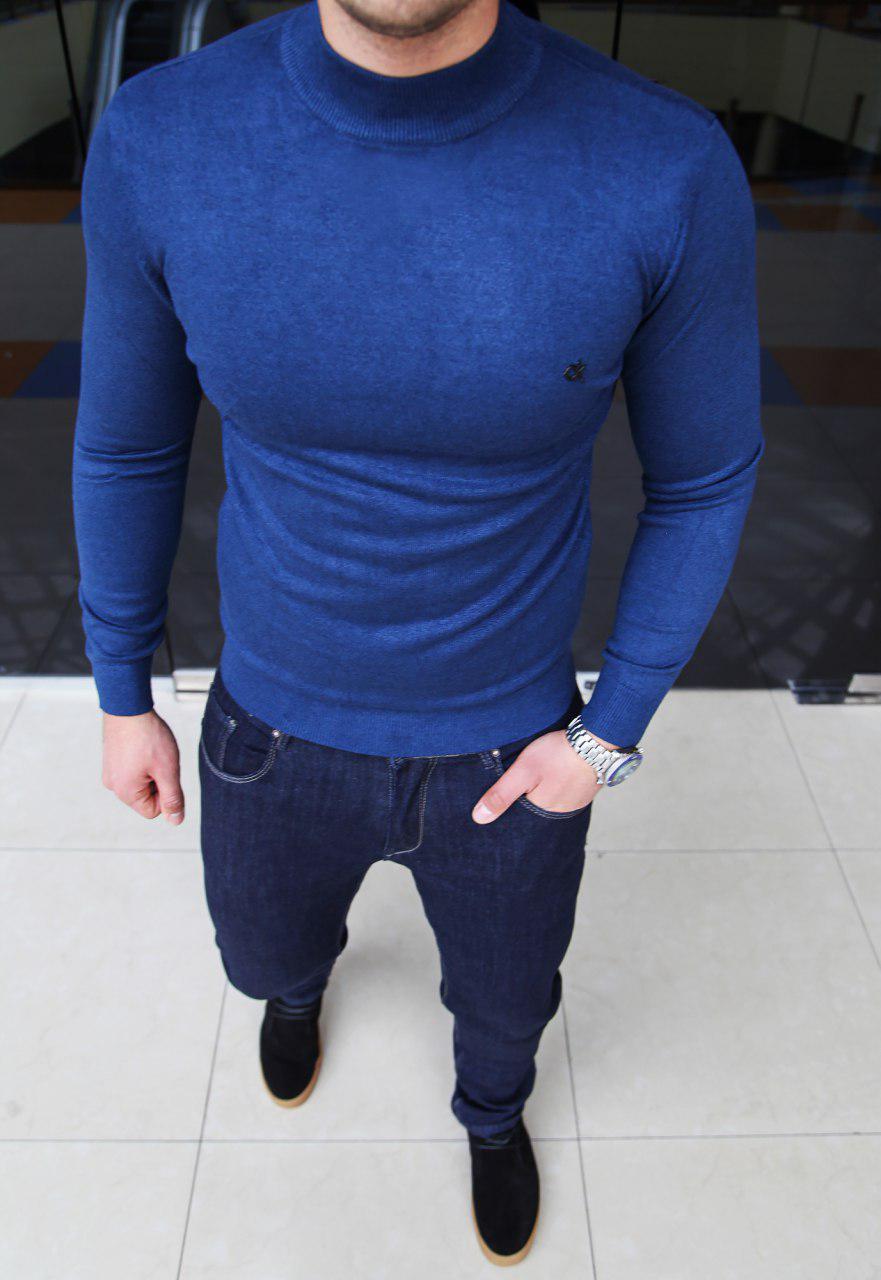 Мужской гольф Calvin Klein H0098 синий