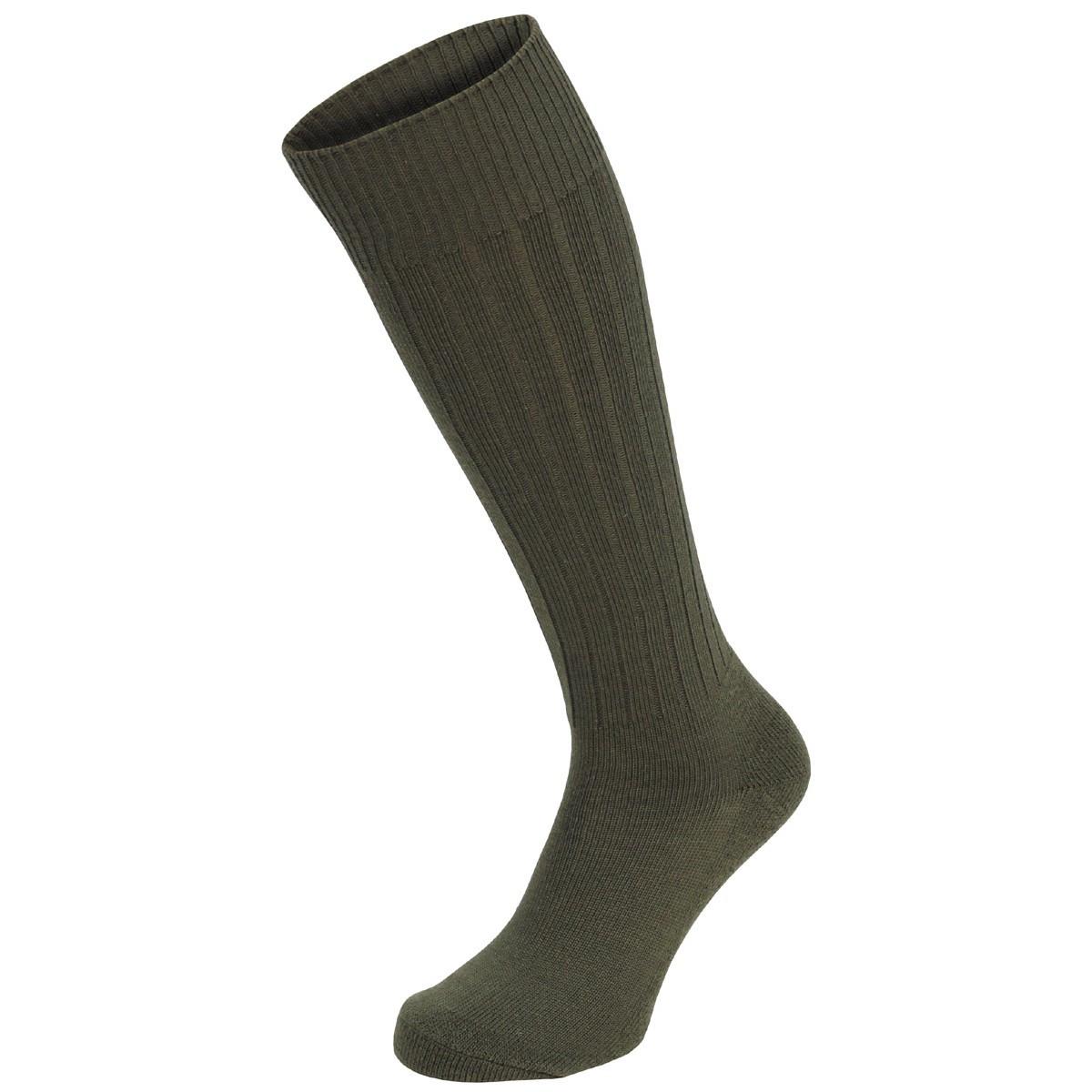 Зимние армейские носки Бундесвера тёмно-зелёные MFH