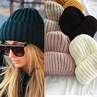 """Ультрапопулярные шапочки крупной вязки в разных цветах. Шапка """"Бомжатка"""""""