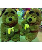 Мягкая игрушка озвученная медведь с бочкой мёда 2118-20
