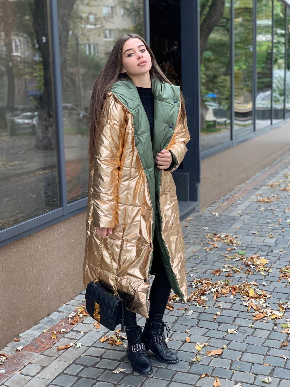 Женская двухсторонняя куртка, в разных цветах. ОС-4-1019