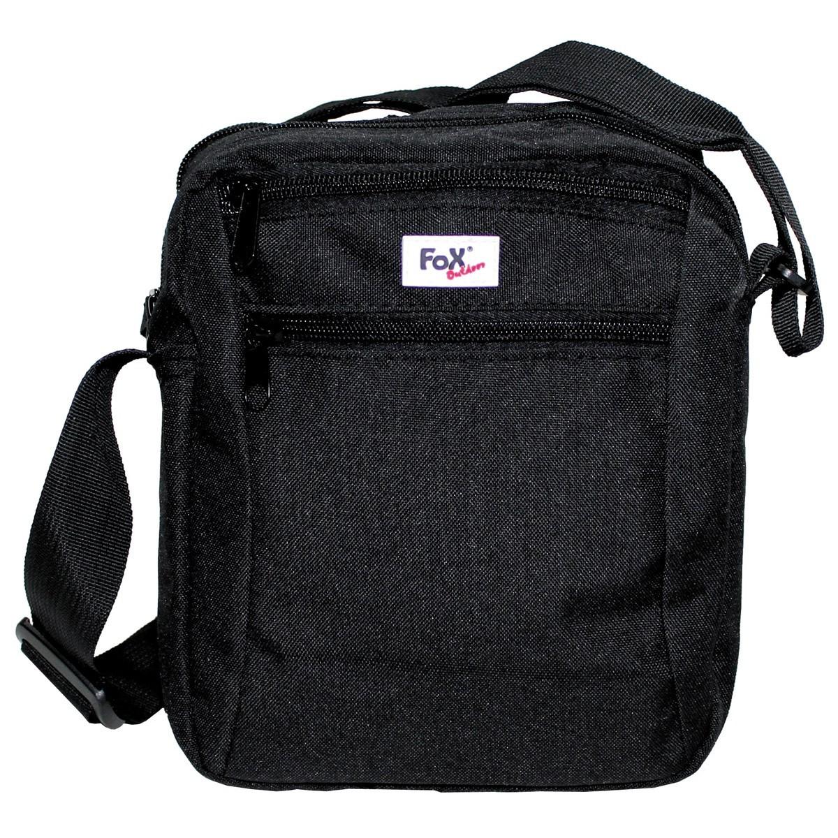 """Наплечная сумка Fox Outdoor """"Travel-II"""" чёрная 22x18x8см"""
