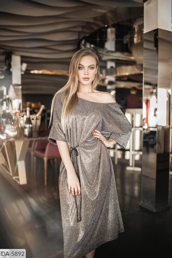 Сукня міді люрекс в кольорах 165101