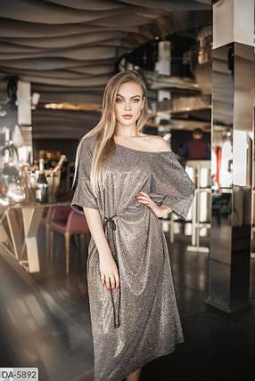 Сукня міді люрекс в кольорах 165101, фото 2